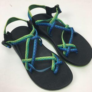 Chacos Sandals Women's 10 Strappy Adjustable Green